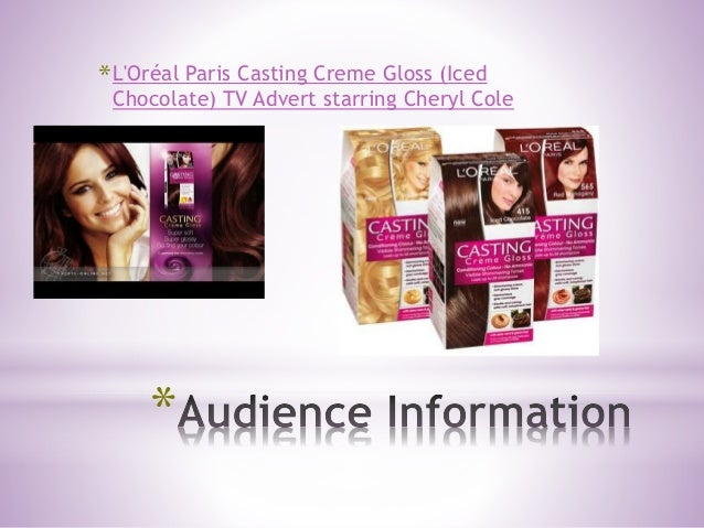 * *L'Oréal Paris Casting Creme Gloss (Iced Chocolate) TV Advert starring Cheryl Cole