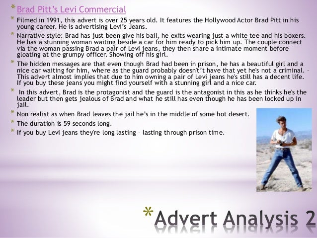 * *Brad Pitt's Levi Commercial * Filmed in 1991, this advert is over 25 years old. It features the Hollywood Actor Brad Pi...