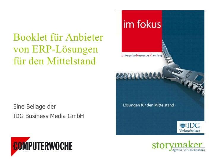 <ul><li>Booklet für Anbieter von ERP-Lösungen für den Mittelstand </li></ul><ul><li>Eine Beilage der  </li></ul><ul><li>ID...