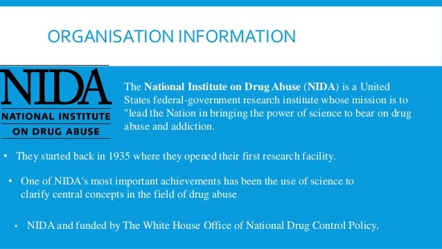 informative speech on drug abuse Informative speech preparation outline and recently 1999 national household survey on drug abuse showed that two most common drugs.