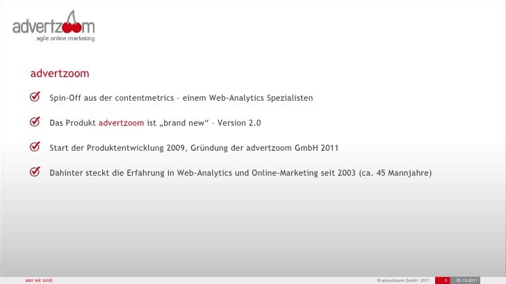 advertzoom 10/2011 Slide 3