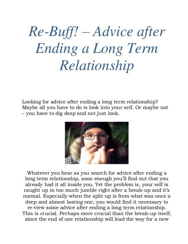 What To Do After A Long Term Relationship Ends