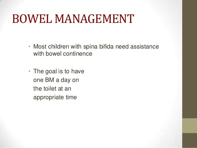 Advice For Bowel Continence For Spina Bifida In Children