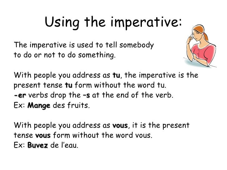 Advice Imperative in French