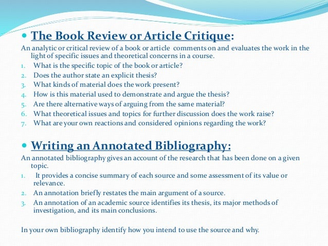 elements of a critique essay