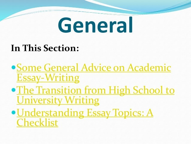 essay checklist university College checklist college checklist welcome think of your college years as the gateway to the rest of your life begin working on your college application essay.