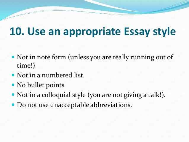 numbering points in an essay Writing better university essays/main part  an essay where the same word or sentence structure is repeated time and  writing better university essays.