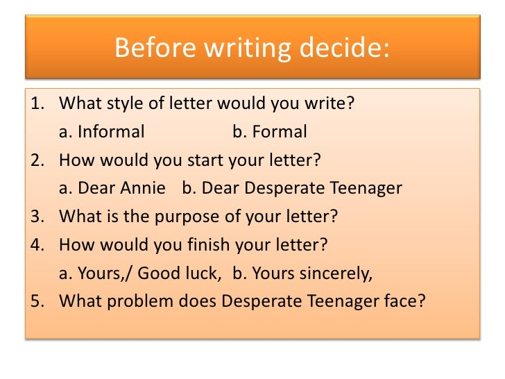 How Do I Write A Letter Of Advice?