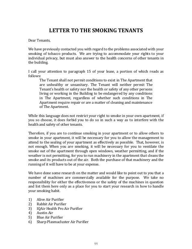letter to landlord breach of warranty of habitability seatle