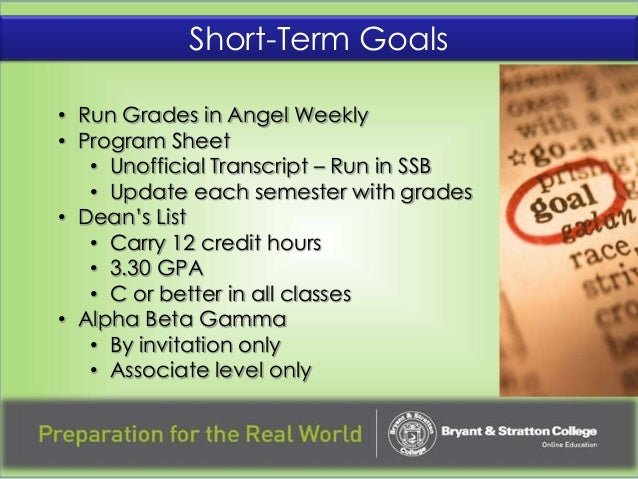 short term educational goals Read chapter 4 goals for educational services: autism is a word most of us are familiar with  and whether goals are short term (ie, to be achieved in a few .