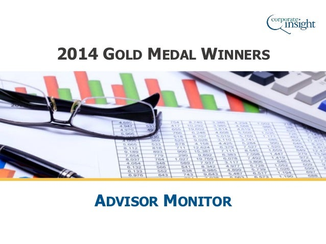 2014 GOLD MEDAL WINNERS ADVISOR MONITOR