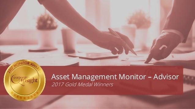 Asset Management Monitor – Advisor 2017 Gold Medal Winners