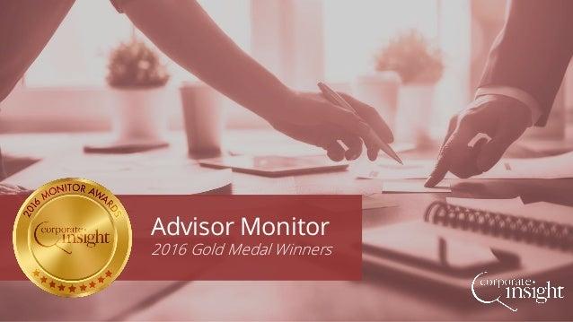 Advisor Monitor 2016 Gold Medal Winners