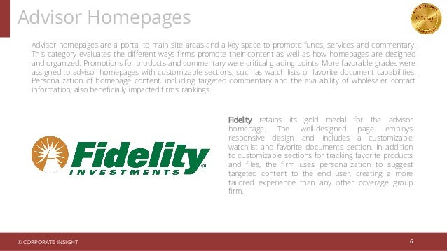 Advisor homepages are a portal to main site areas and a key space to promote funds, services and commentary. This category...