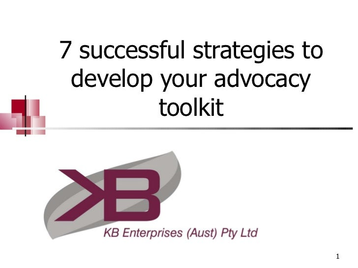 7 successful strategies to develop your advocacy toolkit