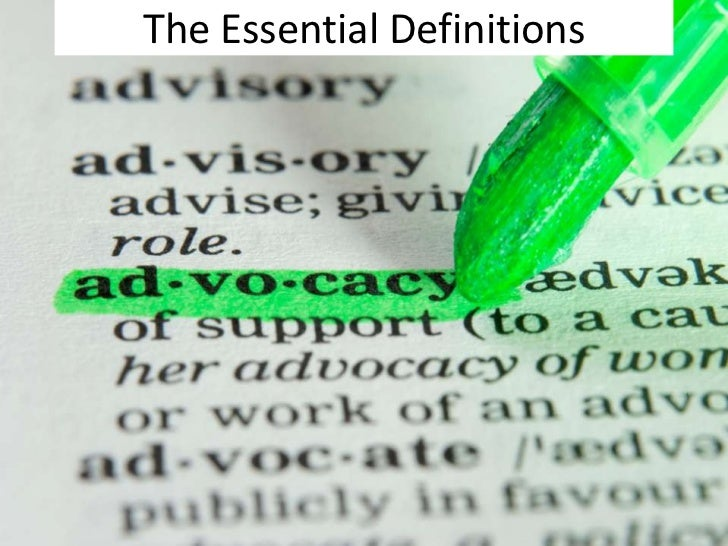 Advocacy sd Slide 2