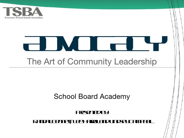 ADVOCACY <ul><li>The Art of Community Leadership </li></ul>Presented by: Randall Bennett, Lee Harrell and Lindsay Campbell...