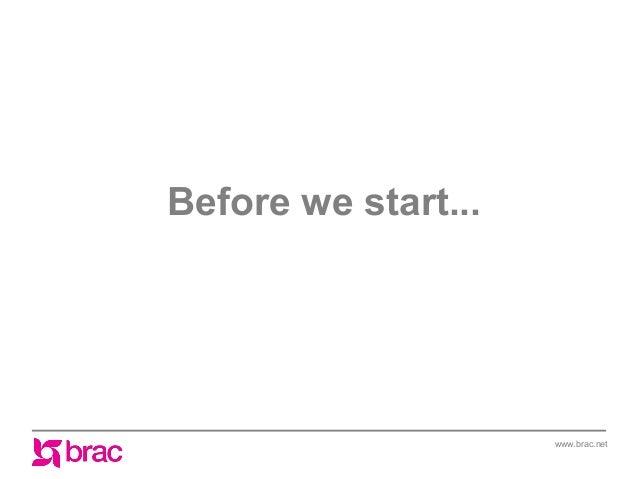 Before we start...  www.brac.net