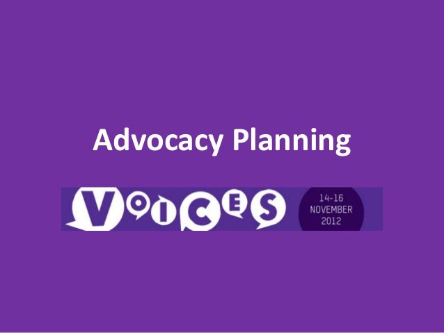 Advocacy Planning