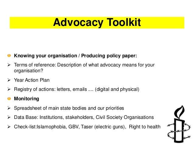 Advocacy presentation Amnesty International