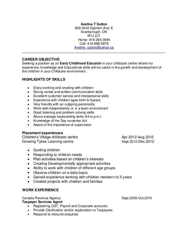 Advocacy resume. Aveline T Sutton 609-3434 Eglinton ...