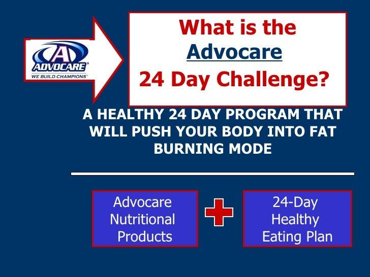 24 Day Advocare Challenge Presentation