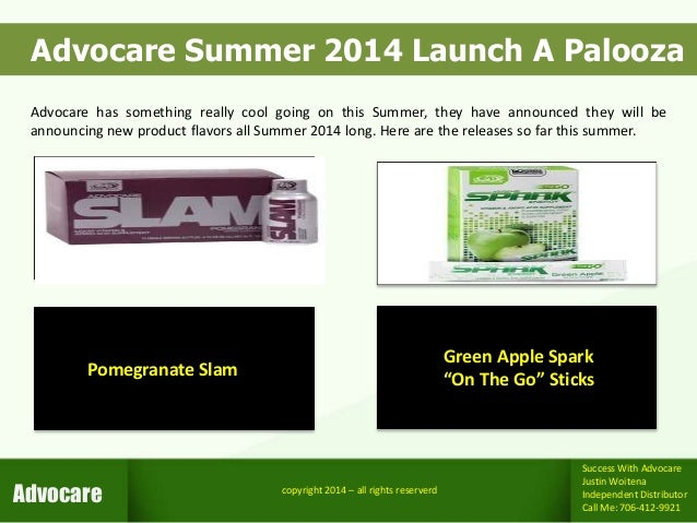 """Advocare Spark Reviews >> Advocare Green Apple """"On The Go"""" Spark - Summer 2014 Launch A Palooza"""