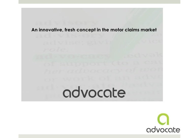 An innovative, fresh concept in the motor claims market<br />
