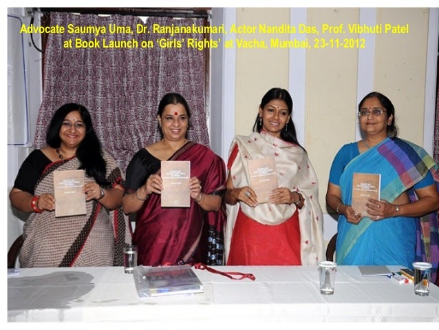 Advocate Saumya Uma, Dr. Ranjanakumari, Actor Nandita Das, Prof. Vibhuti Patel        at Book Launch on 'Girls' Rights' at...