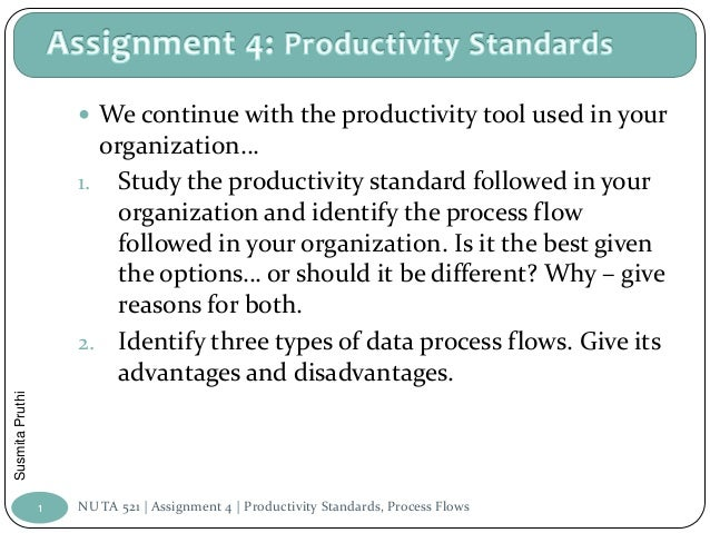  We continue with the productivity tool used in your                       organization…                     1. Study the...