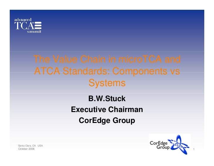 The Value Chain in microTCA and            ATCA Standards: Components vs                       Systems                    ...