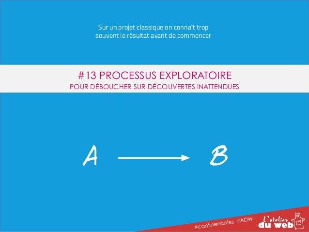 Sur un projet classique on connaît trop  souvent le résultat avant de commencer  #13 PROCESSUS EXPLORATOIRE  POUR DÉBOUCHE...