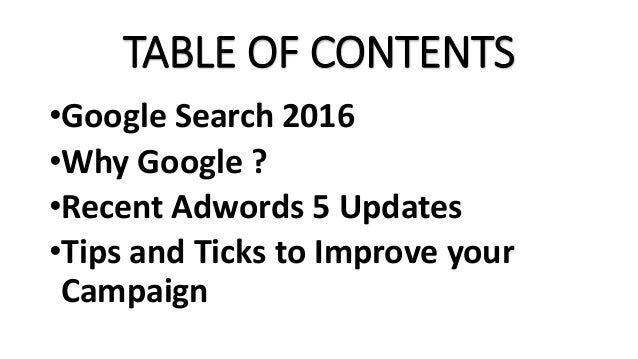 Google Adwords updates And 22 Tips to improve you campaign