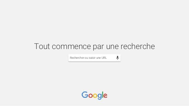 Tout commence par une recherche Rechercher ou saisir une URL