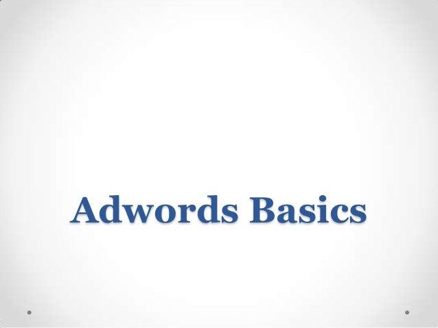Adwords Basics