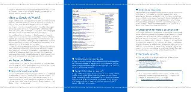 Términos frecuentesÉstos son algunos de los términos más importantes de Google AdWords:   ·Clic. Un clic se produce cuando...