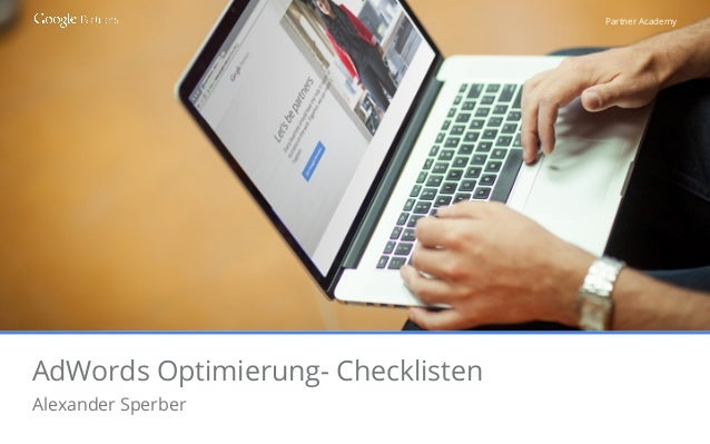 Partner Academy AdWords Optimierung- Checklisten Alexander Sperber