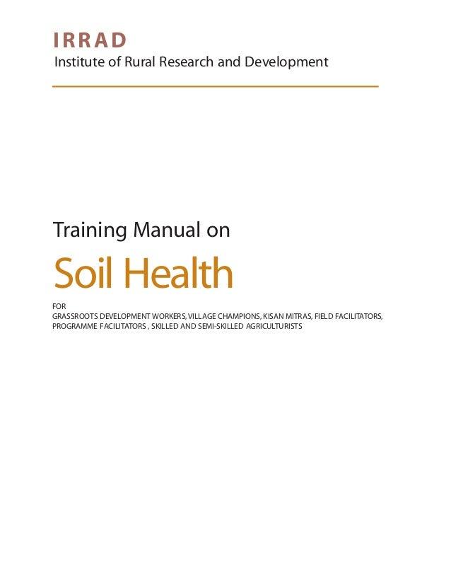 Training manual on soil health for Soil health institute