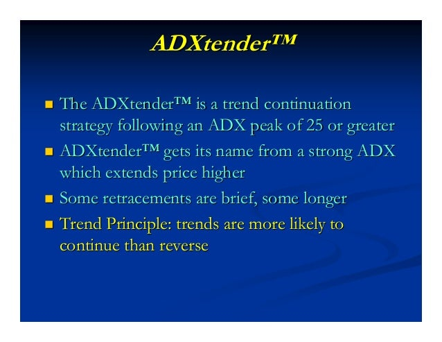 ADXtender (Intraday)ADXtender (Intraday) Trade ManagementTrade Management Initial Stop:Initial Stop: Longs: 20 YM Points b...