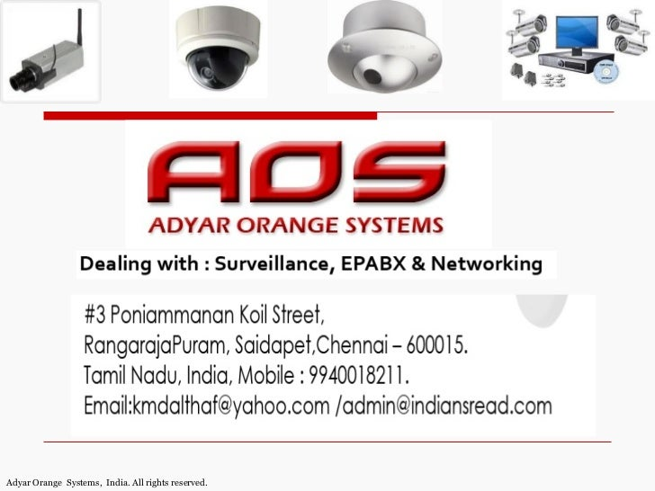 Adyar Orange Systems, India. All rights reserved.