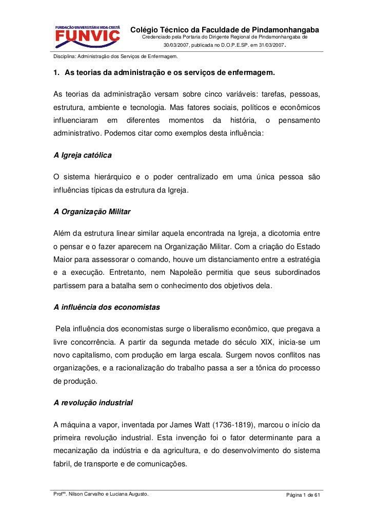 Colégio Técnico da Faculdade de Pindamonhangaba                                      Credenciado pela Portaria do Dirigent...