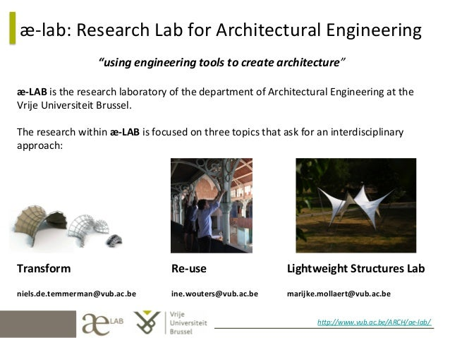 "æ-­‐lab:	   Research	   Lab	   for	   Architectural	   Engineering	    ""using	   engineering	   tools	   to	   create	   a..."