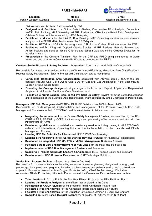 decommissioning well isolation 2 - Dam Safety Engineer Sample Resume