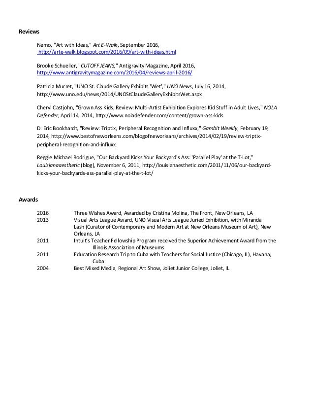 Jason Childers CV January 2017