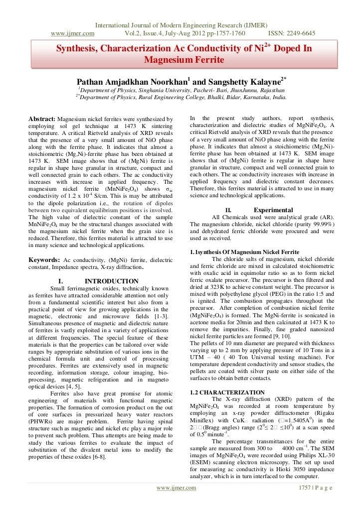 International Journal of Modern Engineering Research (IJMER)         www.ijmer.com                 Vol.2, Issue.4, July-Au...