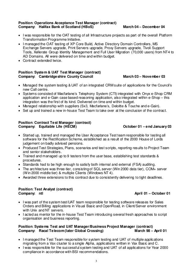 project manager program manager resume top it infrastructure manager resume samples useful materials for it infrastructure - Test Analyst Sample Resume