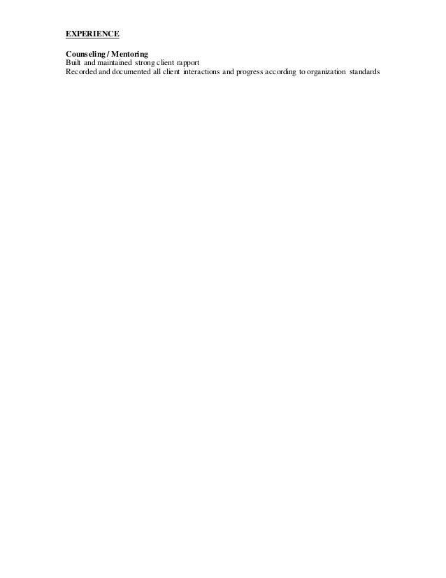 customer rapport resume