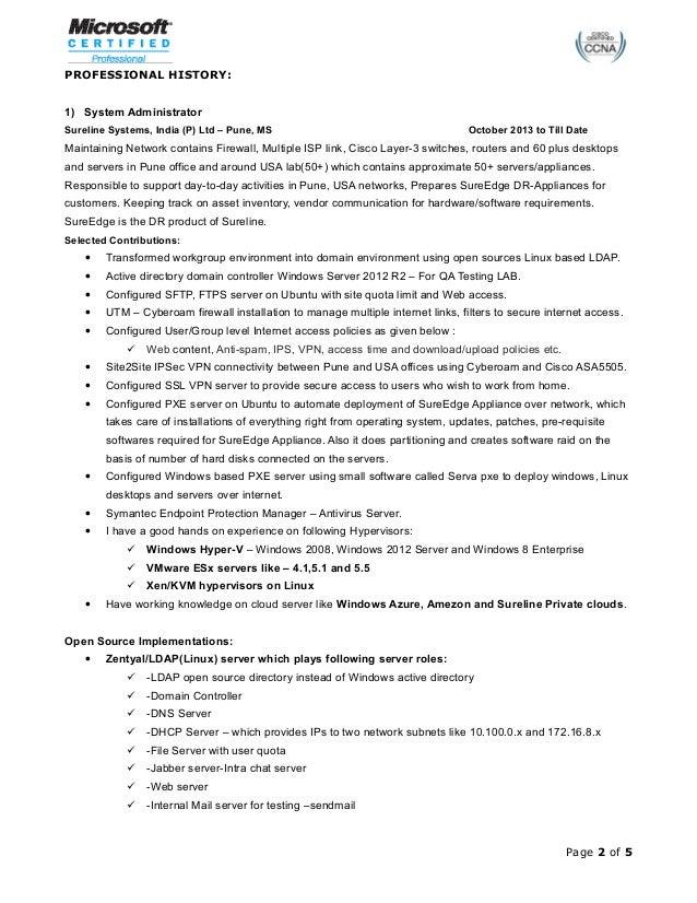 firewall administrator resume