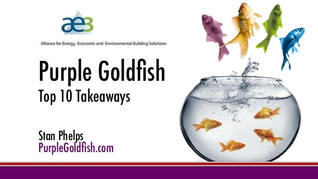 Purple Goldfish Top 10 Takeaways Stan Phelps PurpleGoldfish.com