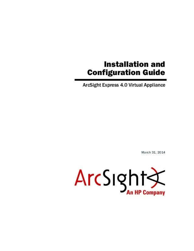 ArcSight Express 4 0 Virtual Appliance Guide